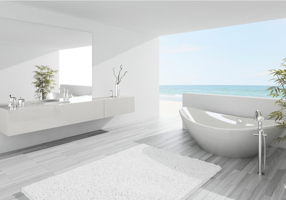 white-bathroom-color