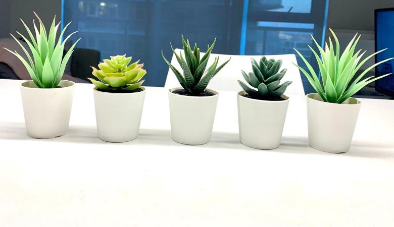 5 Piece Faux Potted Plant