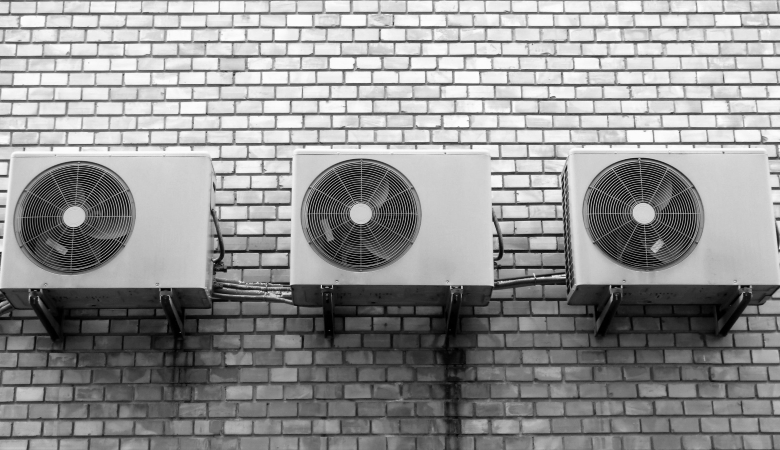 Air Conditioning Compressors on the Wall