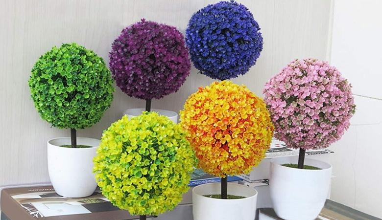 Artificial Plants Bonsai Plastic Simulation