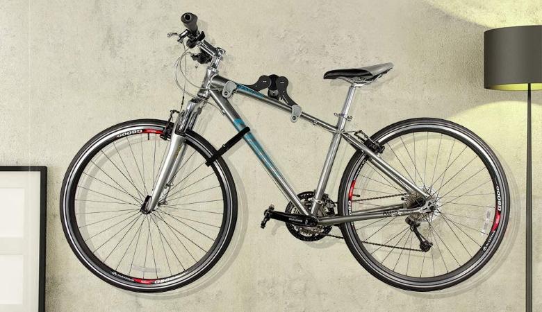 Ibera Horizontal Bicycle Bike Wall Mount Hanger
