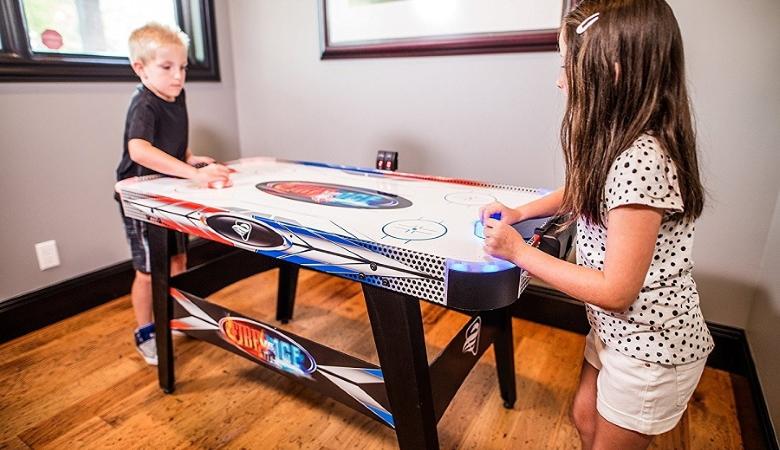 Kids Play Air Hockey
