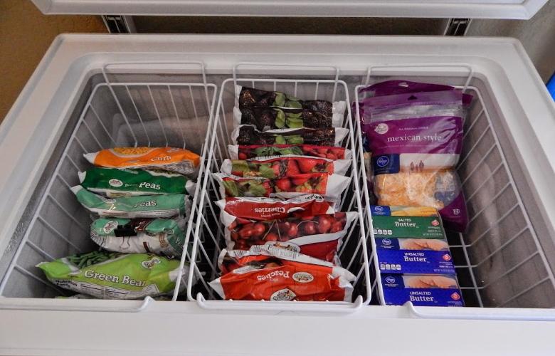 Organized Chest Freezer Wire Baskets