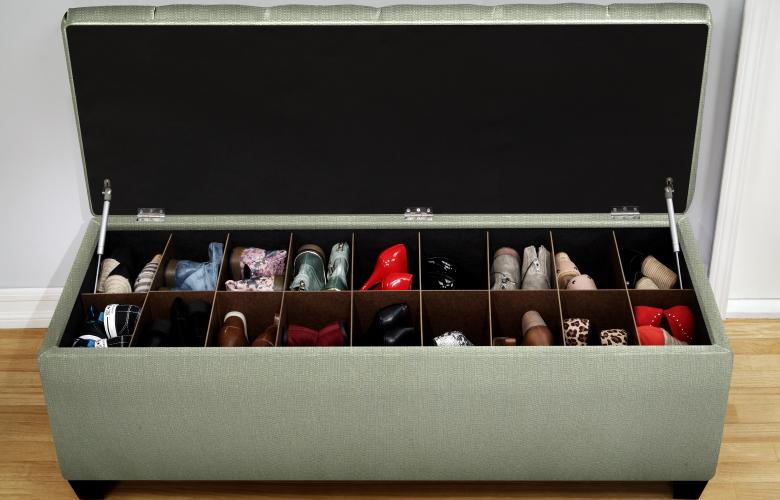 Shoe Storage Ottoman