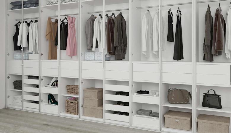 Walk-In Wardrobe White