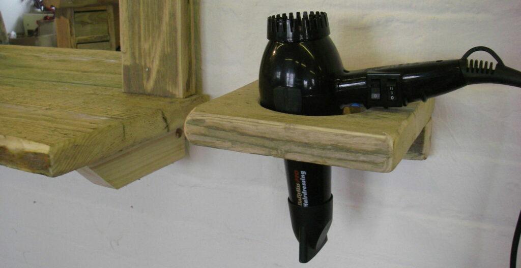 DIY Hairdryer Holder